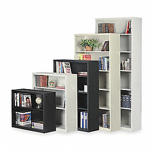 "34-1/2"" x 13"" x 30"" Stationary Bookcase with 2 Shelves, Black"