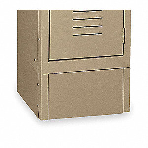 Locker Front Base,W 15 In,H 6 In,Tan