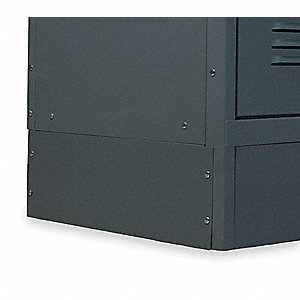 Locker End Base,D 12 In,H 6 In,Gray