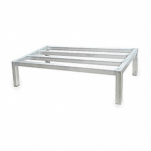"48"" x 24"" x 12"" Aluminum Low Profile Dunnage Rack with 2500 lb. Load Capacity, Silver"