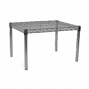 "24"" x 18"" x 14"" Wire Low Profile Dunnage Rack with 800 lb. Load Capacity, Silver"