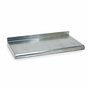 "Solid Steel Wall Shelf, 36""W x 16""D x 11-1/2""H, No. of Shelves: 1"