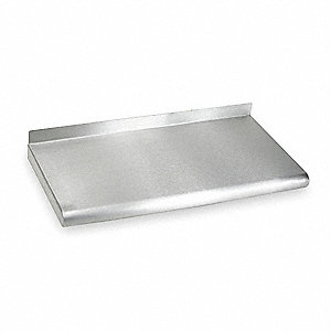 "48"" x 12"" x 11-1/2"" 18 ga. 304 Stainless Steel Wall Shelf, Silver"