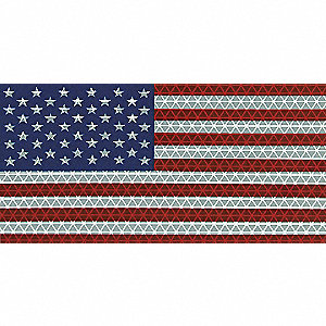 American Flag Decal,Reflect,6.5x3.75 In