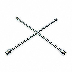 Lug Nut Wrench,4 Way,L 25 In