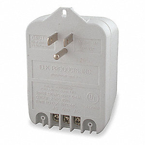 Plug-in Transformer, Wall Mount Style, 24VAC Output Voltage, 120VAC Input Voltage, 40 VA Rating