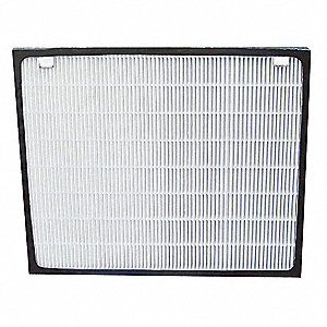 1-1/4x8-13/16x10-3/4 HEPA Carbon Filter For Use With 2HPB8, 2HPB9, Frame Included: Yes