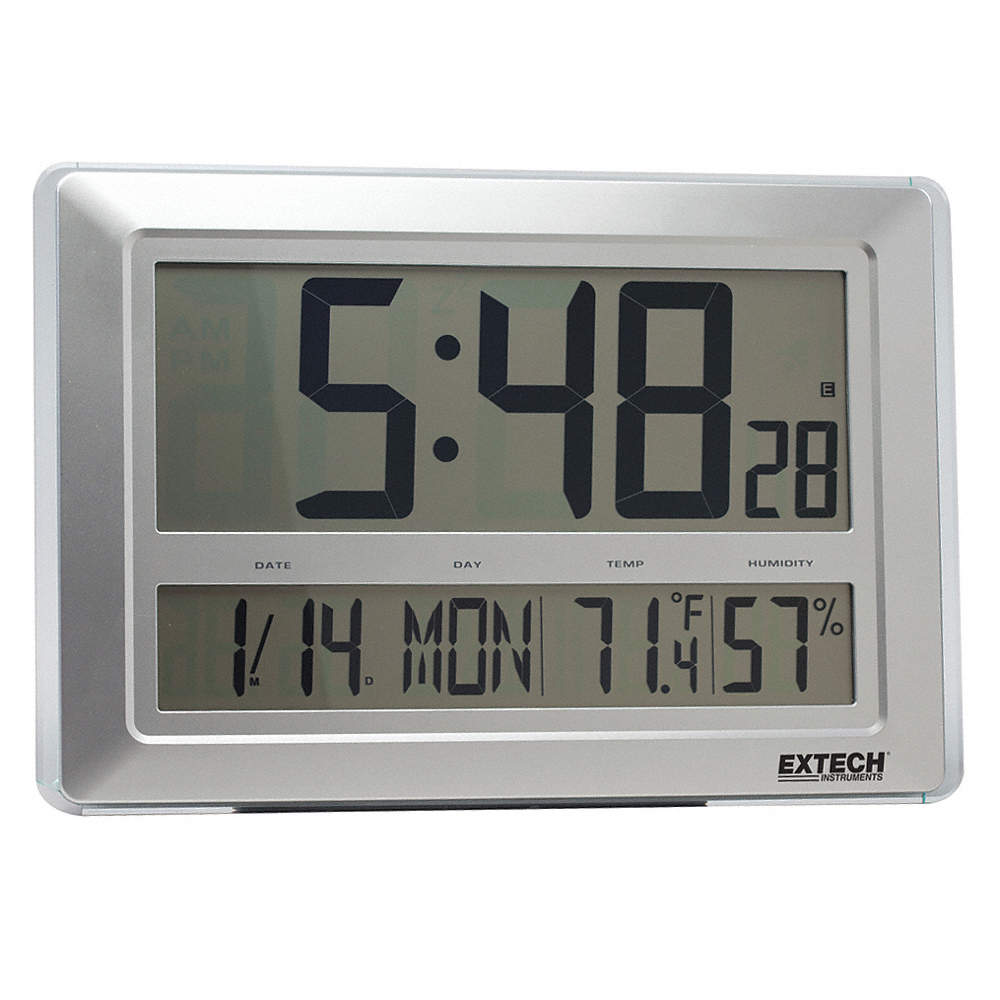 Extech clock digital hygrometer23 to 122 f 2hpf5cth10 grainger zoom outreset put photo at full zoom then double click clock digital hygrometer amipublicfo Choice Image
