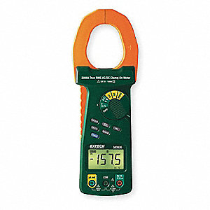 "Clamp On Digital Clamp Meter, 2"" Jaw Capacity, CAT IV 600V"