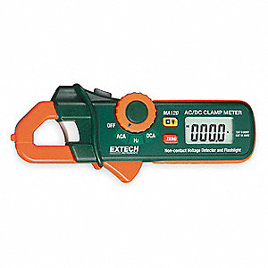 "Clamp On Digital Clamp Meter, 2/3"" Jaw Capacity, CAT III 300V"