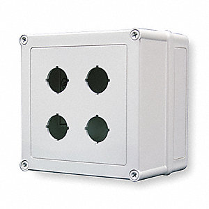 Pushbutton Enclosure, 4X NEMA Rating, Number of Columns: 2