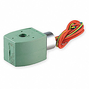 Solenoid Valve Coil, Coil Insulation Class F, 24VDC Voltage, 11.6 Watts