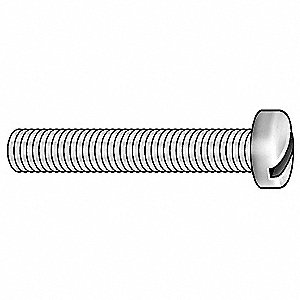 "#6-32 Machine Screw, Nylon, 1"" L, 500 PK"