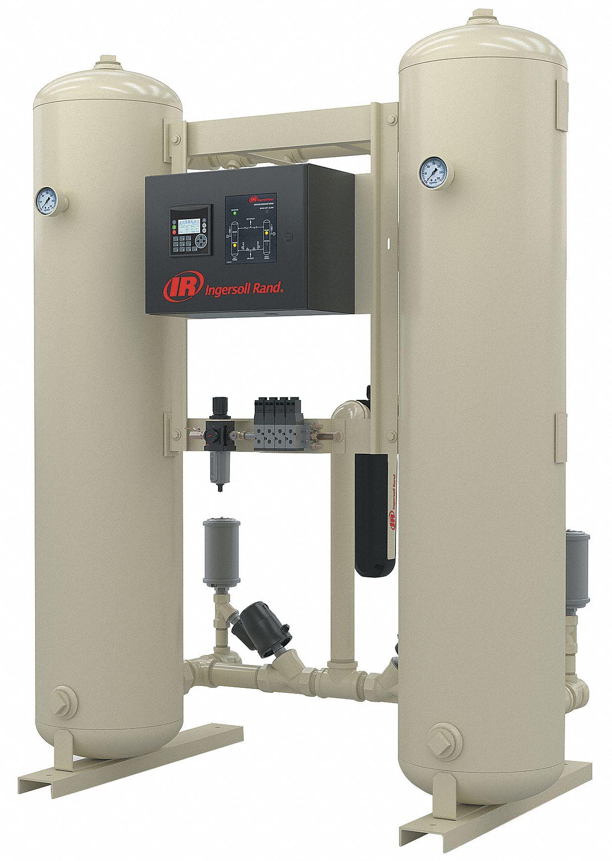INGERSOLL RAND 300 CFM Desiccant Compressed Air Dryer - 2HUC8|HLA3001H00AA  - Grainger