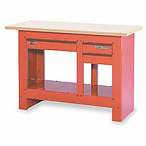 "Workbench, 54"" Width, 23"" Depth  Medium Density Fiberboard Work Surface Material"