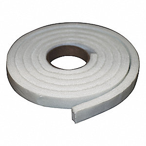 Felt Strip, Poly, 1/4 In T, 1 x 120 In