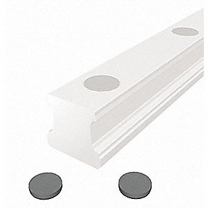 Plastic Rail Plugs, OD 8 mm, PK25