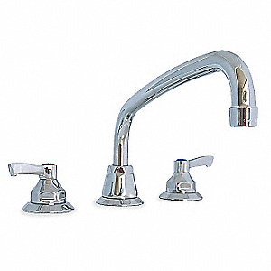 Brass Kitchen Faucet, Manual Faucet Operation, Number of Handles: 2