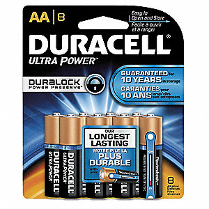 AA Standard Battery, CopperTop, Alkaline, PK8