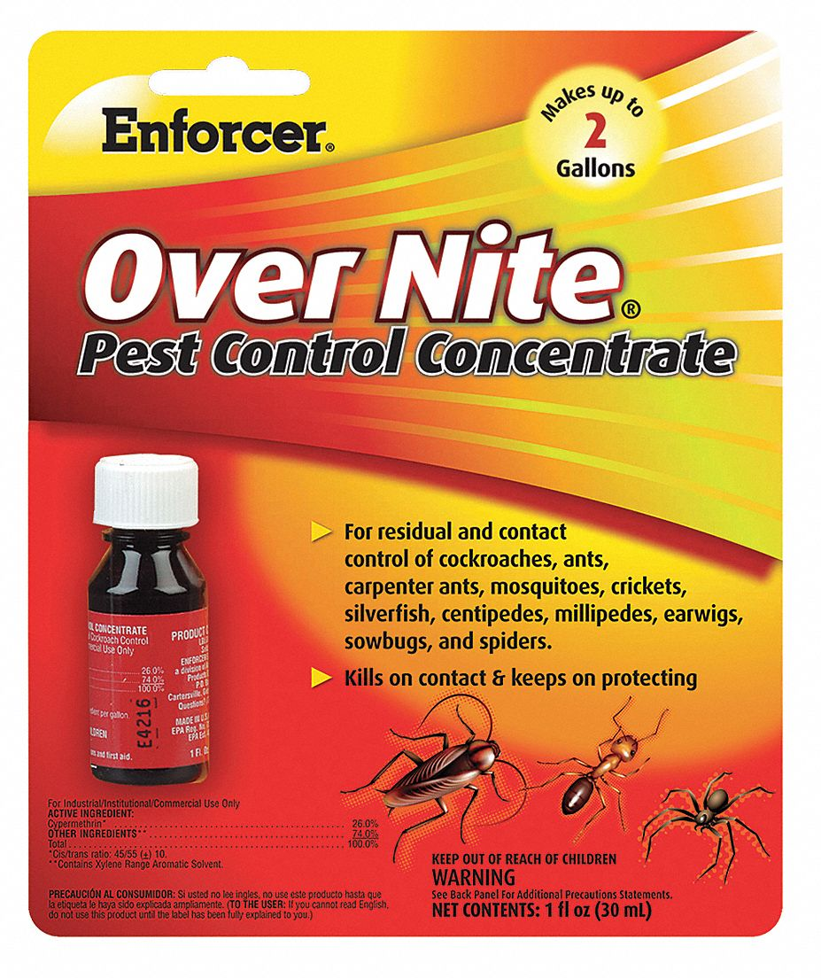 Crawling and Flying Insect Killer,  Liquid,  1 oz,  Indoor/Outdoor,  DEET-Free DEET Concentration