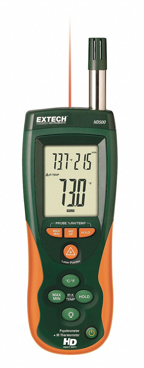 Rh Meters W/ir Thermometer