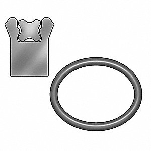 "3/8"" x 3/16"" Type B Polyseal Rod Seal, Black"
