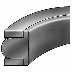 "1/8"" x 1/8"" T-Seal Piston Seal, Black"
