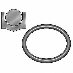 "3/16"" x 3/16"" Crown Piston Seal, Black"