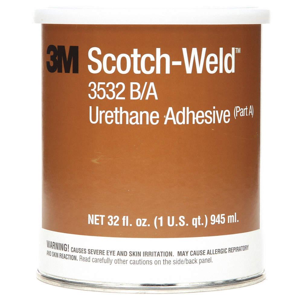3532 Urethane Adhesive, Can, 32 00 oz , Brown, 7 min  Work Life, PK 6