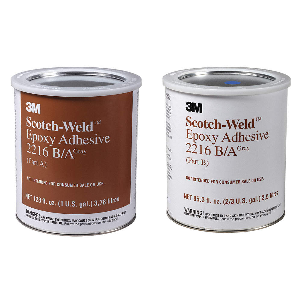 2216 Epoxy Adhesive, Can, 1 gal , Gray, 90 min  Work Life, PK 2