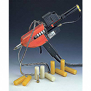 Hot Melt Applicator,1x3in,5.5to7.5lb./hr