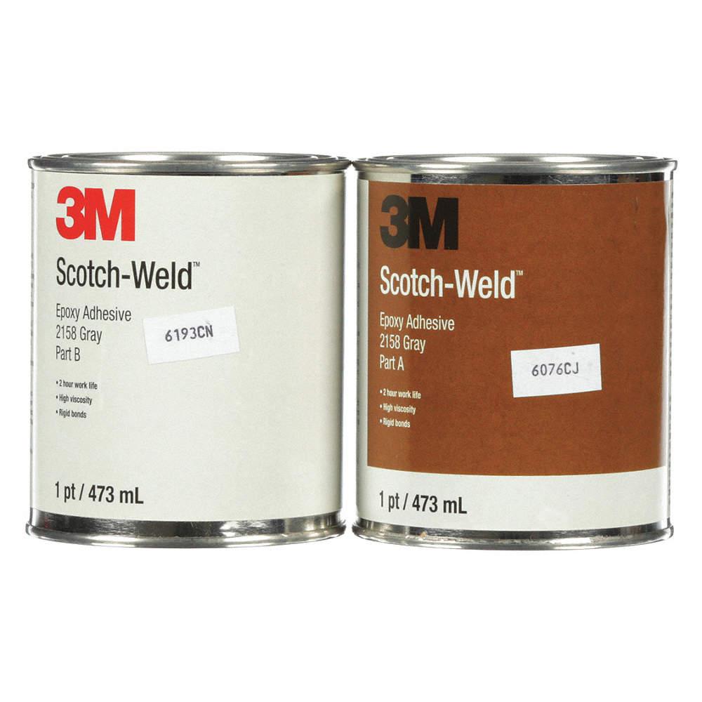 2158 Epoxy Adhesive, Can, 16 00 oz , Gray, 120 min  Work Life, PK 6