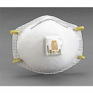 N95 Disposable Respirator, Molded, White, Mask Size: Universal, 12PK