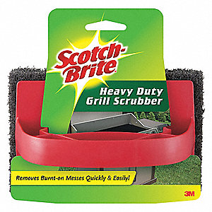 "6"" x 4"" Synthetic Fiber Scrubber, Red/Black, 12PK"
