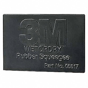 Rubber Squeegee,2.75x4 1/4In,Black,PK50
