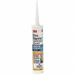 Firestop Sealant, 10 oz. Cartridge, Up to 3 hr. Fire Rating, Gray