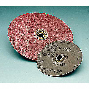 "4-1/2"" Coated Fiber Disc, Coarse, 50 Grit Ceramic, 100 PK"