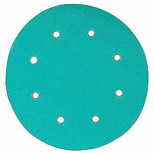 "6"" PSA Sanding Disc, 80 Grit, Medium, Coated, 6 Hole, Aluminum Oxide, 246U, PK1000"