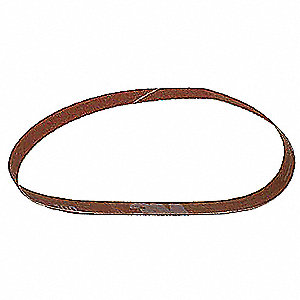 "Sanding Belt, 18"" Length, 1/4"" Width, Ceramic, 80 Grit, Medium, Coated, 777F, PK200"
