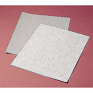 "Very Fine Silicon Carbide Sanding Sheet, 320 Grit, 9"" L X 4-1/2"" W, Backing Weight : A, 4000 PK"