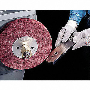 "6"" Metal Finishing Convolute Wheel, 1"" W, 1"" Arbor Hole, Medium Aluminum Oxide"