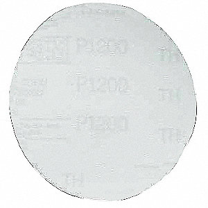 "5"" Hook-and-Loop Sanding Disc, Aluminum Oxide, 1000 Grit, Ultra Fine, Coated, 260L, PK400"