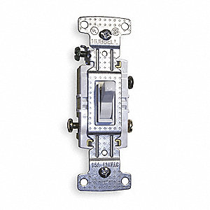 Wall Switch, Switch Type: 3-Way, Switch Function: Maintained, Style: Toggle