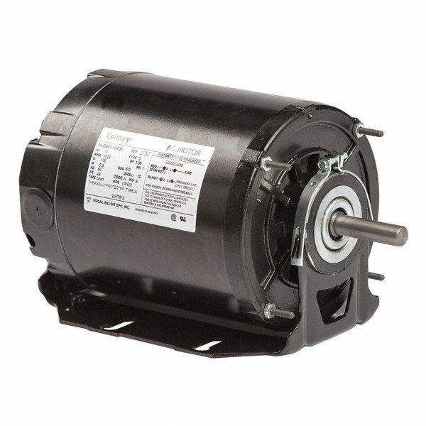 Century 1 3 hp belt drive motor split phase 1725 for Furnace brook motors inventory