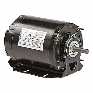 1/3 HP Belt Drive Motor, Split-Phase, 1725 Nameplate RPM, 115 Voltage, Frame 48Z