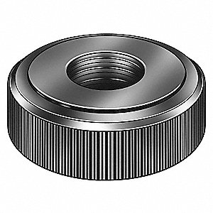 Lock Nut,5/8-11,Steel,Black Oxide