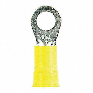 Ring Terminal, Blue Nylon, Brazed Seam, 6 AWG, 200 PK