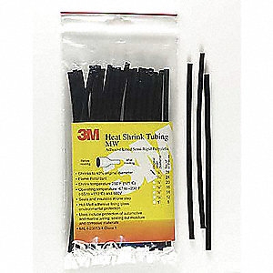 "6"" Thin Wall Heat Shrink Tubing, Very Flexible Polyolefin, Shrink Ratio 2:1"