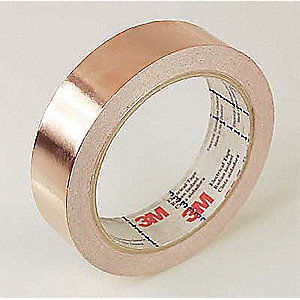 Foil Tape,1/2 In. x 18 Yd.,Copper,PK18