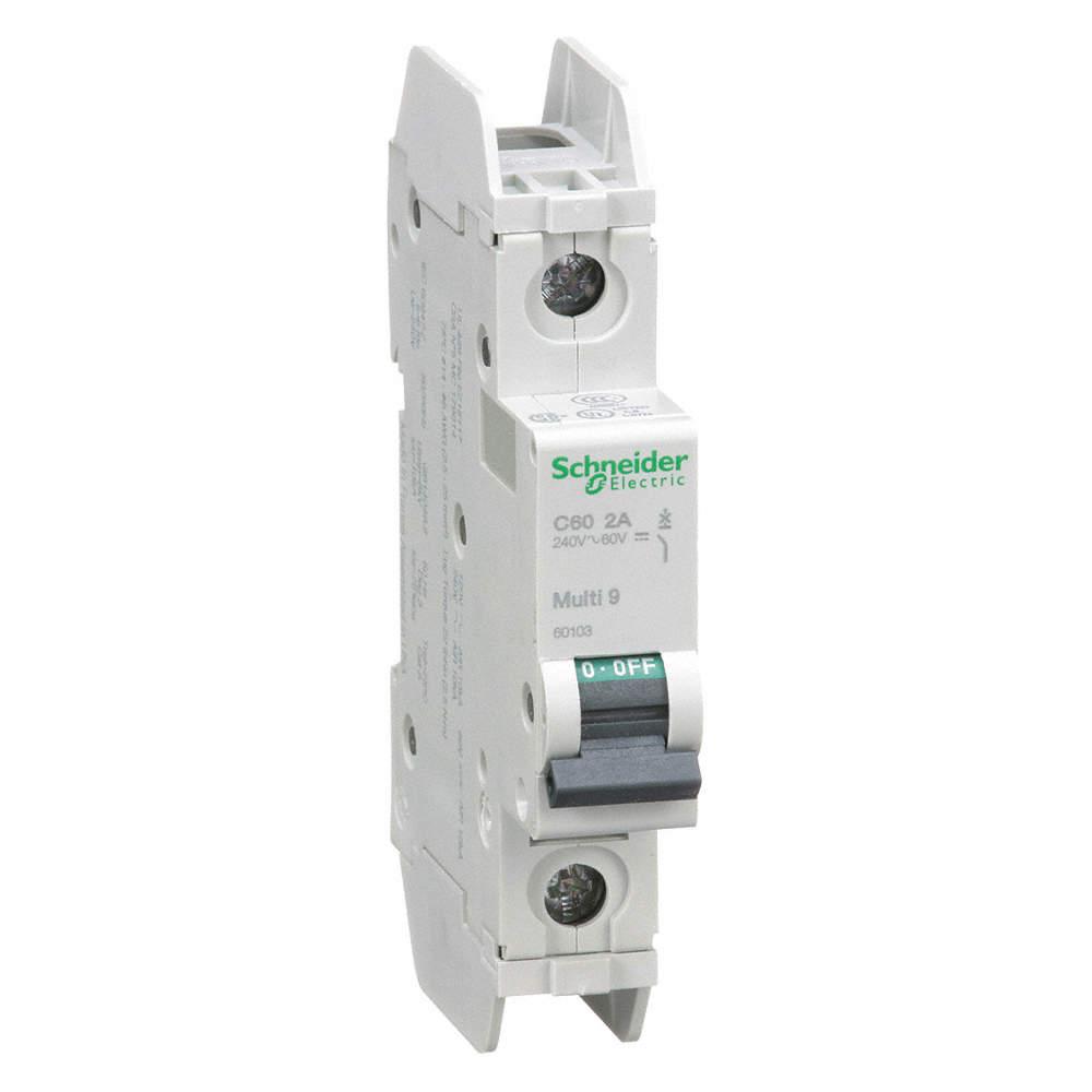 SCHNEIDER ELECTRIC Miniature Circuit Breaker, 2 Amps, C Curve Type ...